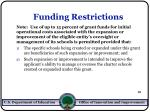 funding restrictions19