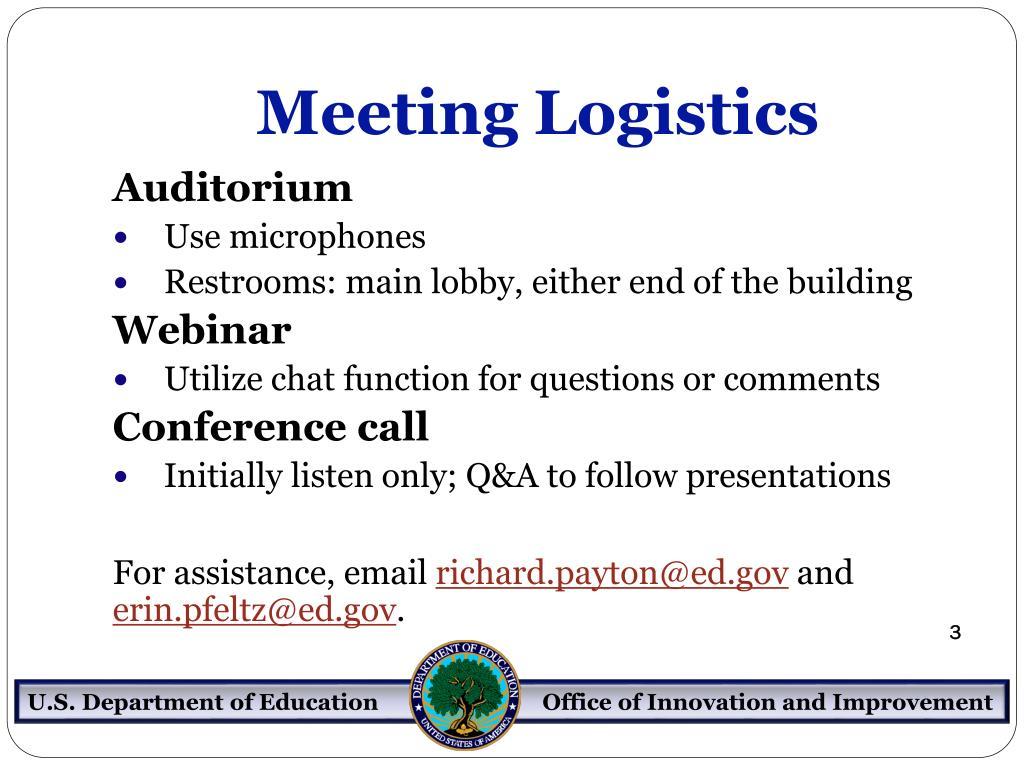 Meeting Logistics