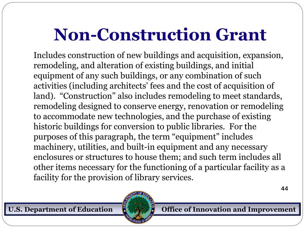 Non-Construction Grant