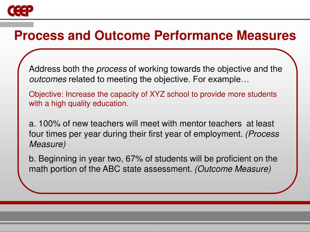 Process and Outcome Performance Measures