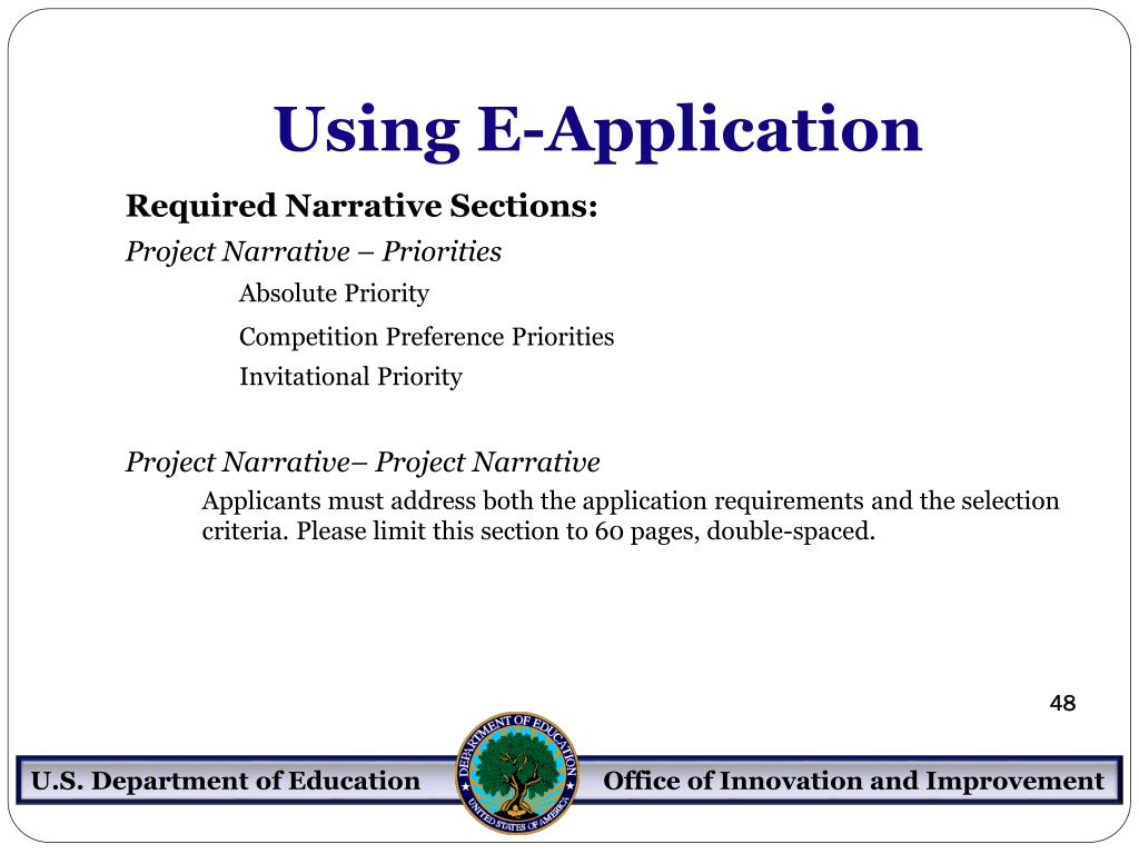 Using E-Application