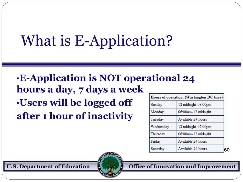 What is E-Application?