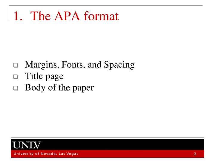 powerpoint apa format