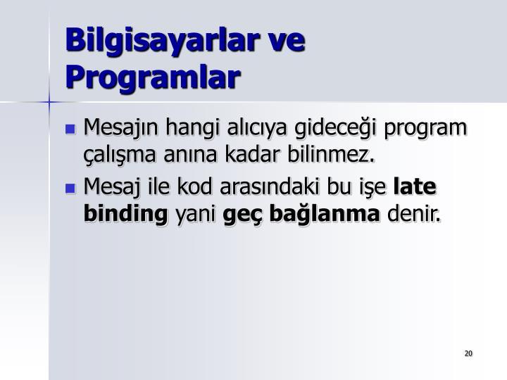 Bilgisayarlar ve Programlar