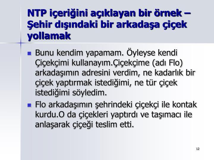 NTP içeriğini açıklayan bir örnek –