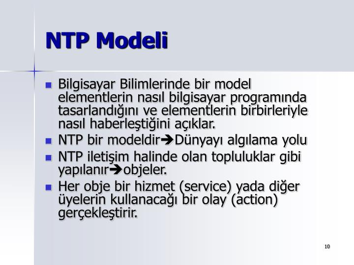 NTP Modeli