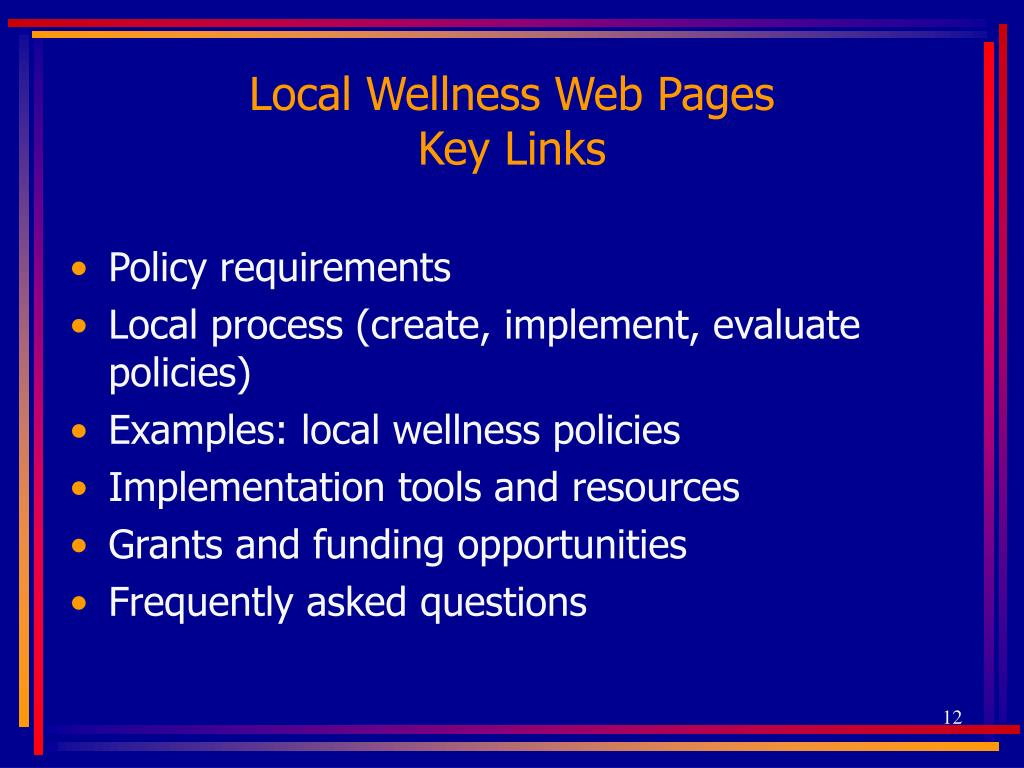 Local Wellness Web Pages