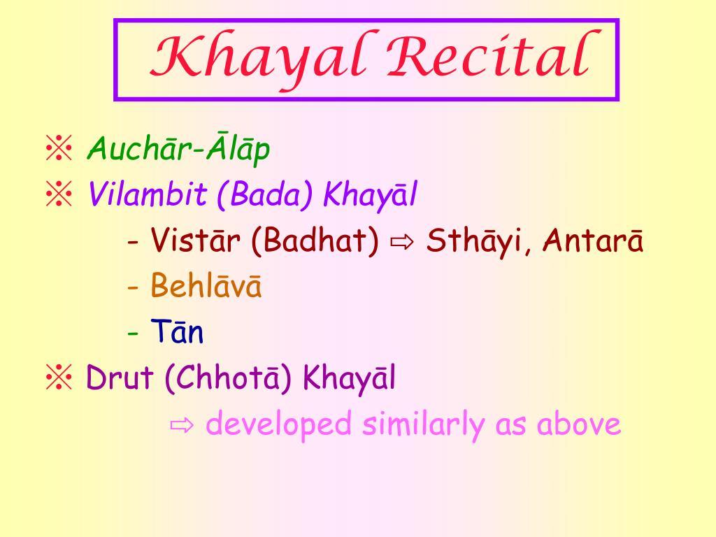 Khayal Recital