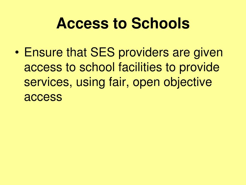 Access to Schools
