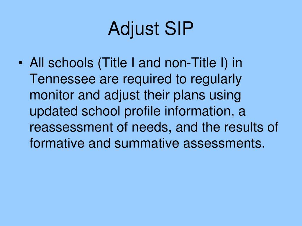 Adjust SIP