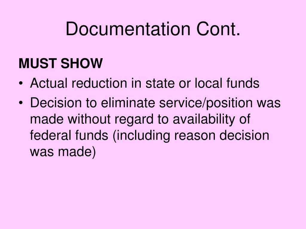 Documentation Cont.