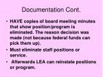 documentation cont40