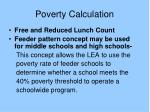 poverty calculation