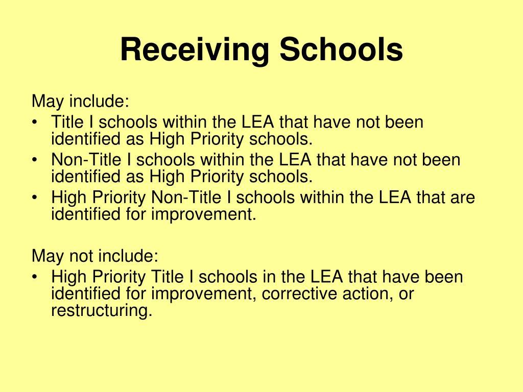 Receiving Schools