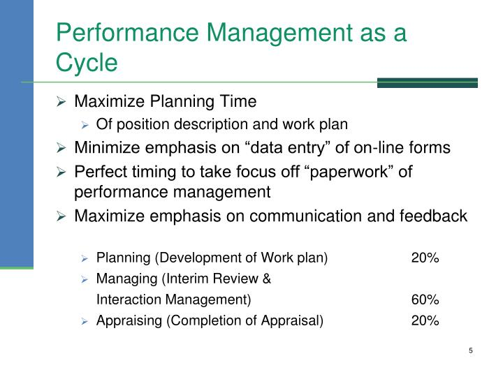 Performance Management as a Cycle