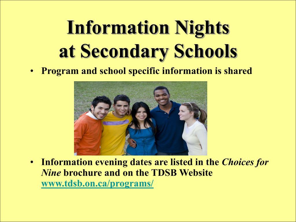 Information Nights