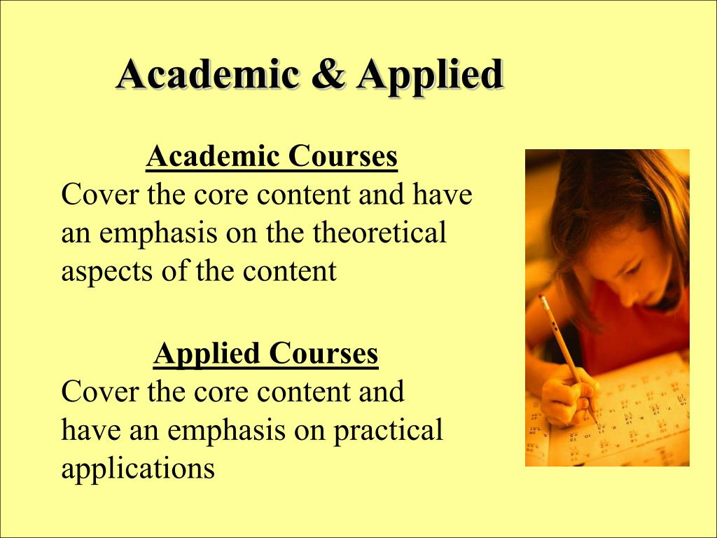 Academic & Applied
