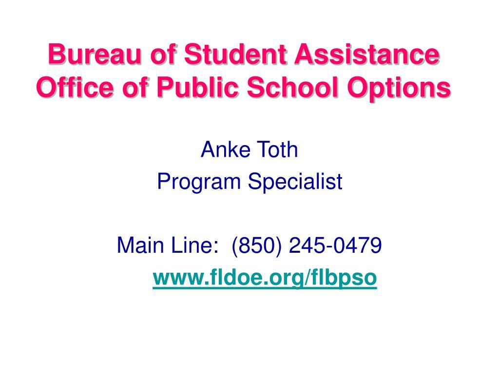 Bureau of Student Assistance