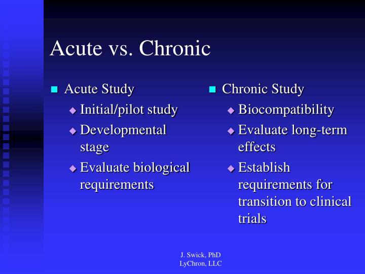 Acute Study