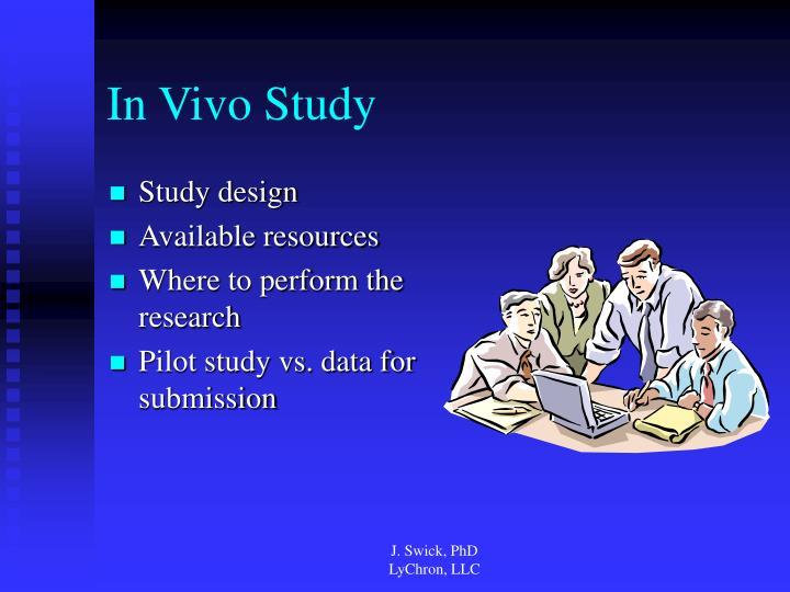 In Vivo Study