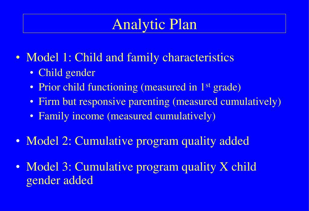 Analytic Plan