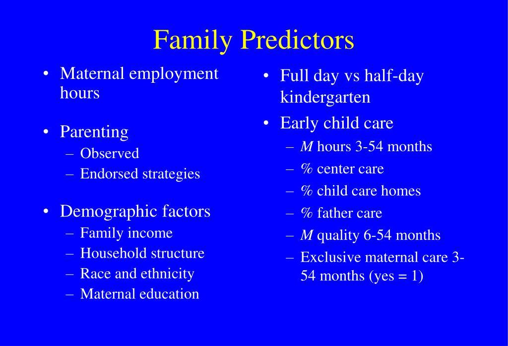 Maternal employment hours