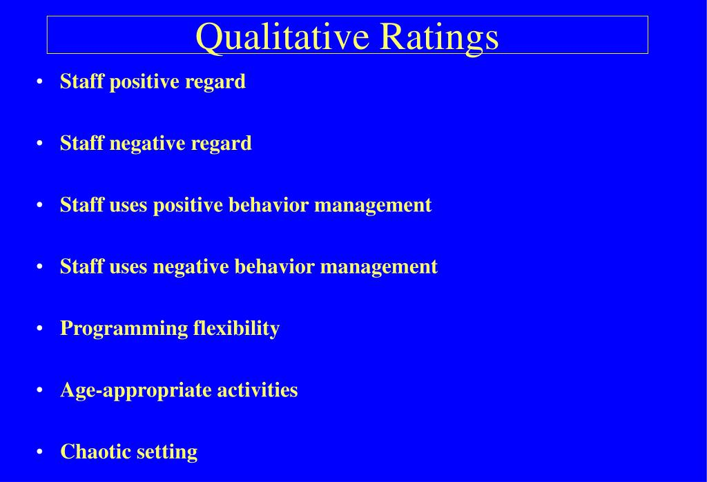 Qualitative Ratings