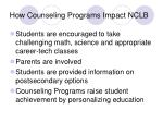 how counseling programs impact nclb12