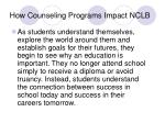 how counseling programs impact nclb13