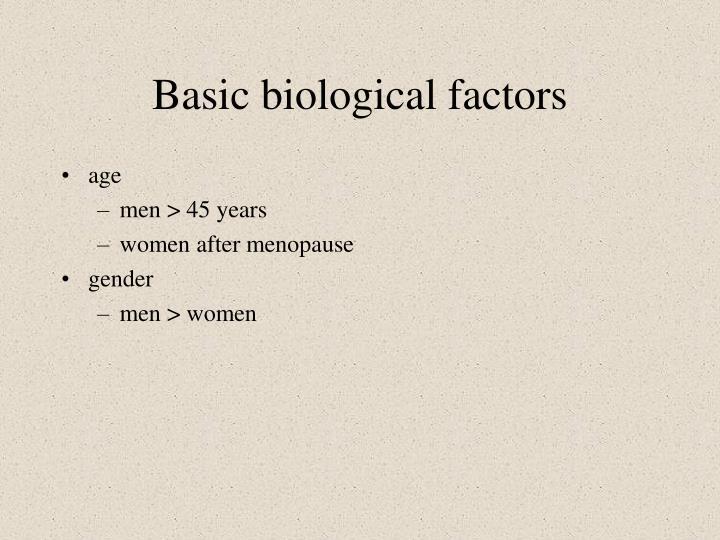 Basic biological factors
