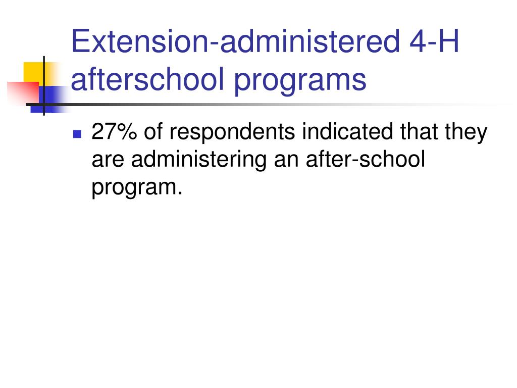 Extension-administered 4-H afterschool programs