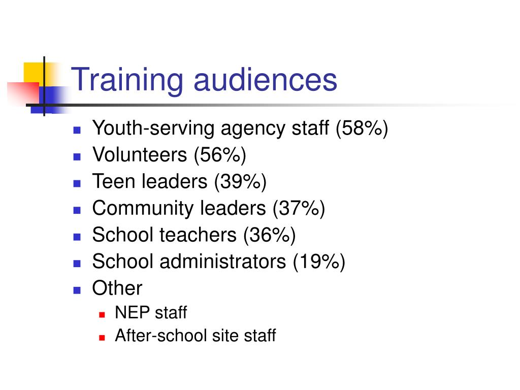Training audiences