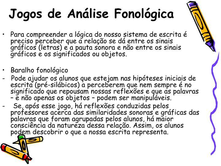 Jogos de Análise Fonológica