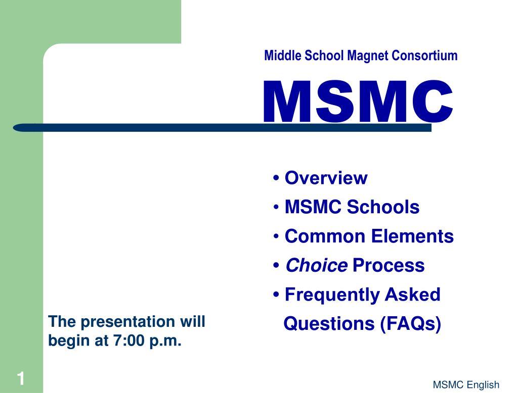 Middle School Magnet Consortium