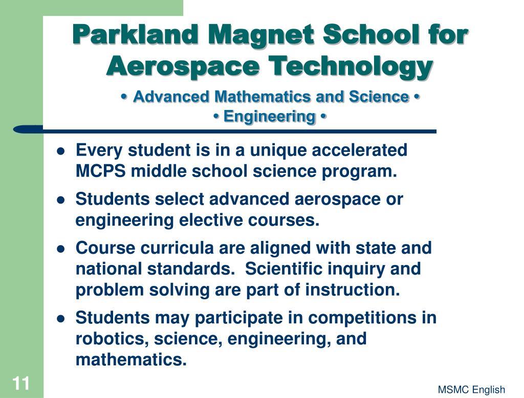 Parkland Magnet School for Aerospace Technology