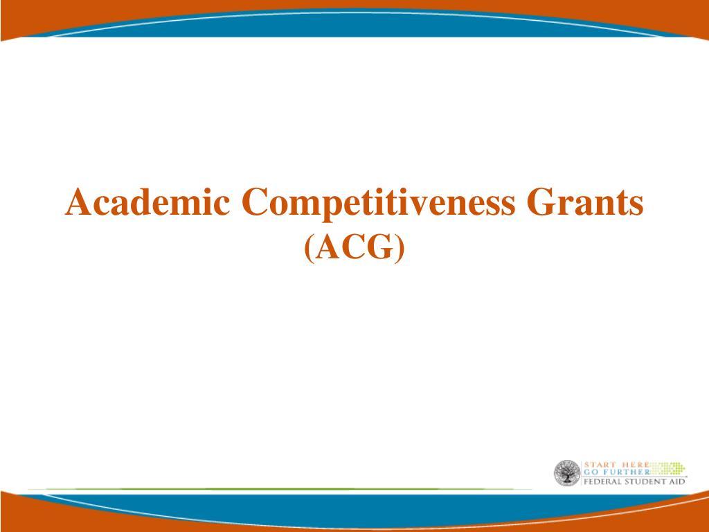Academic Competitiveness Grants