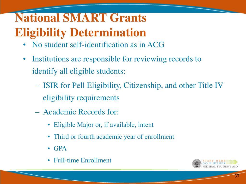 National SMART Grants