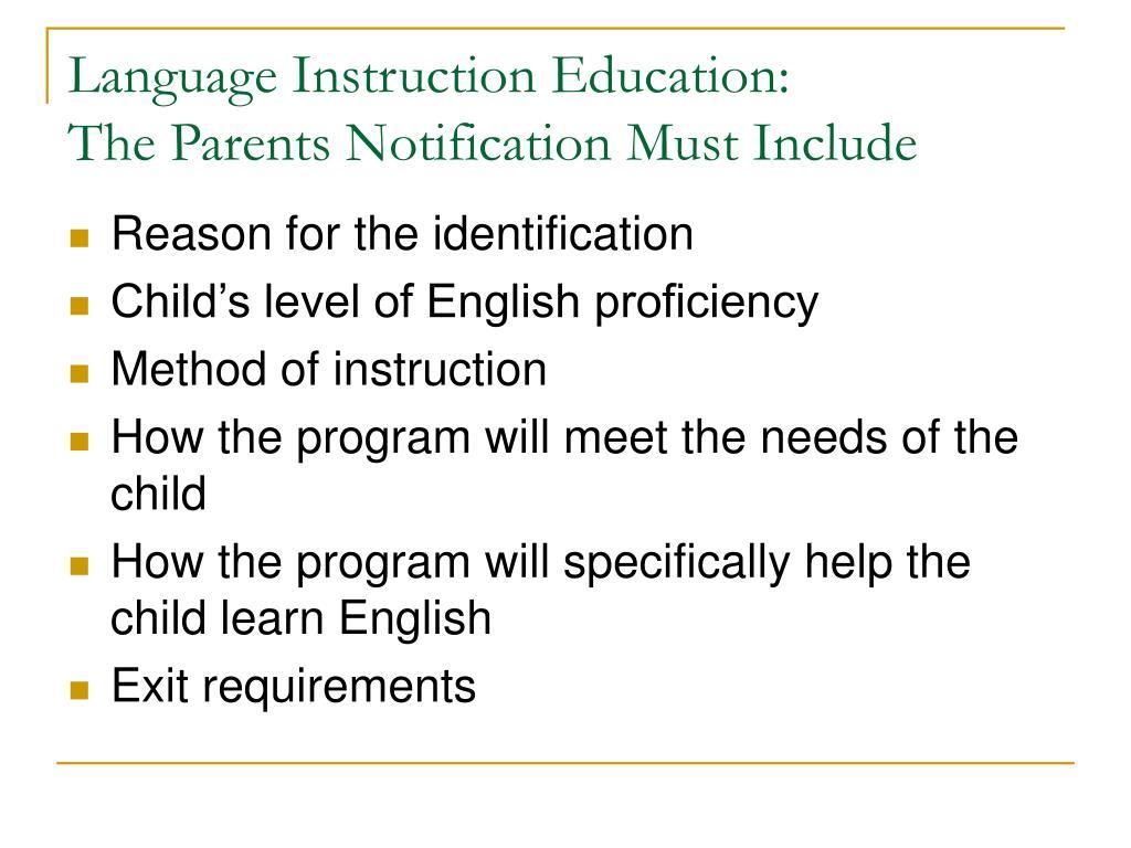 Language Instruction Education: