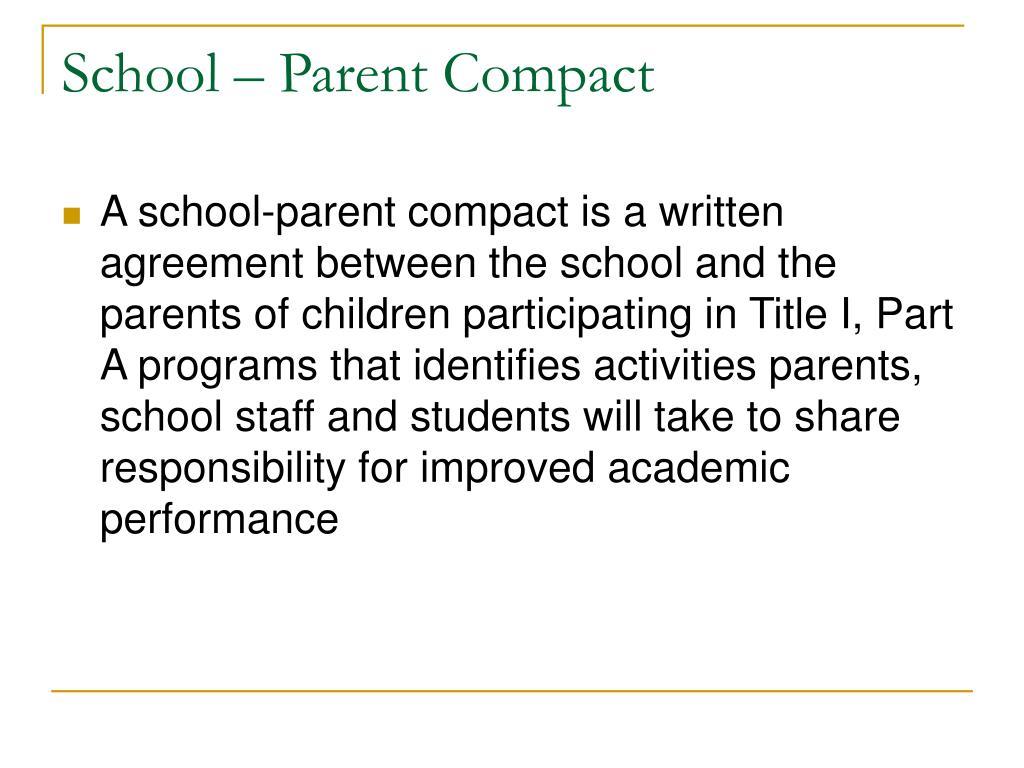 School – Parent Compact