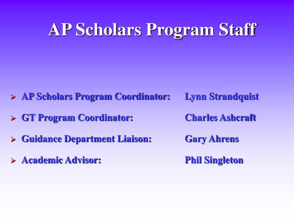 AP Scholars Program Staff