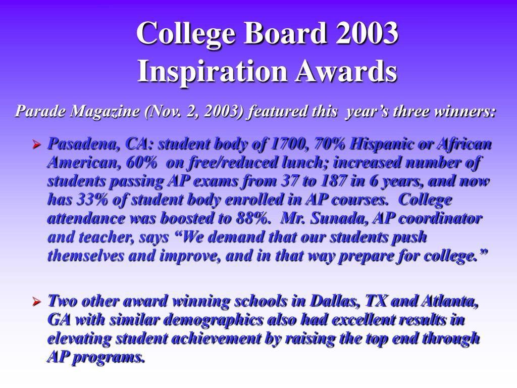 College Board 2003