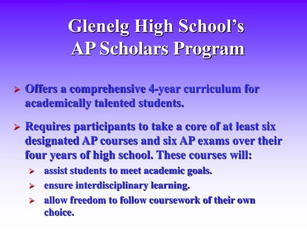 Glenelg High School's