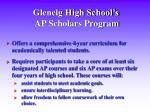 glenelg high school s ap scholars program