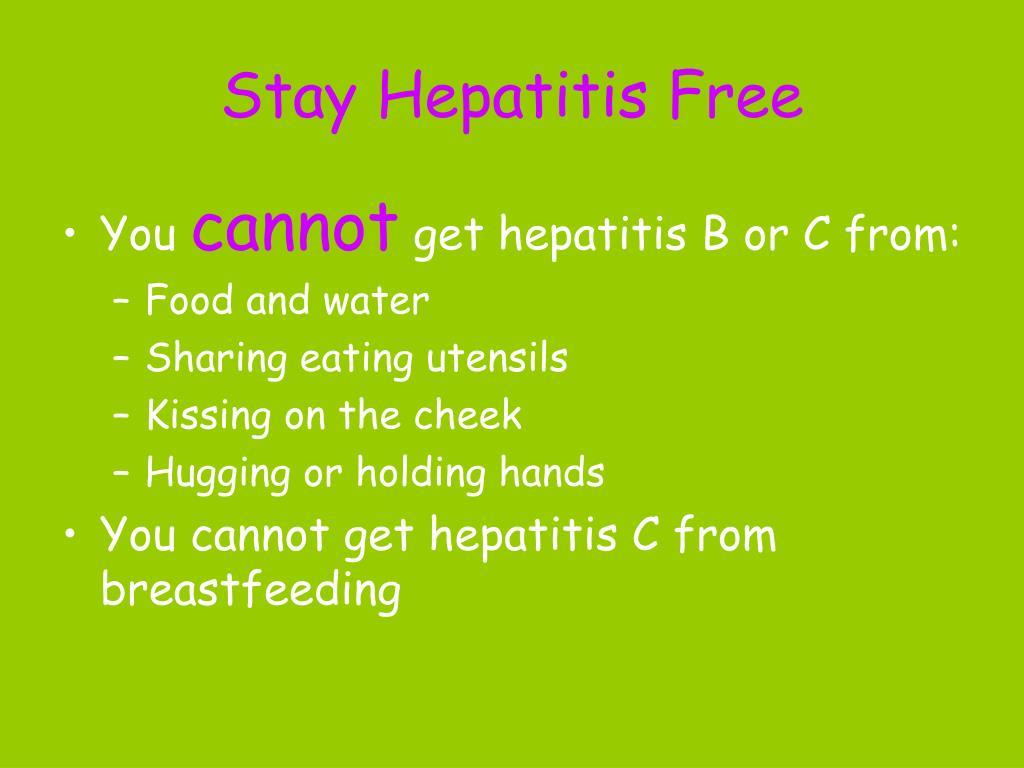 Stay Hepatitis Free
