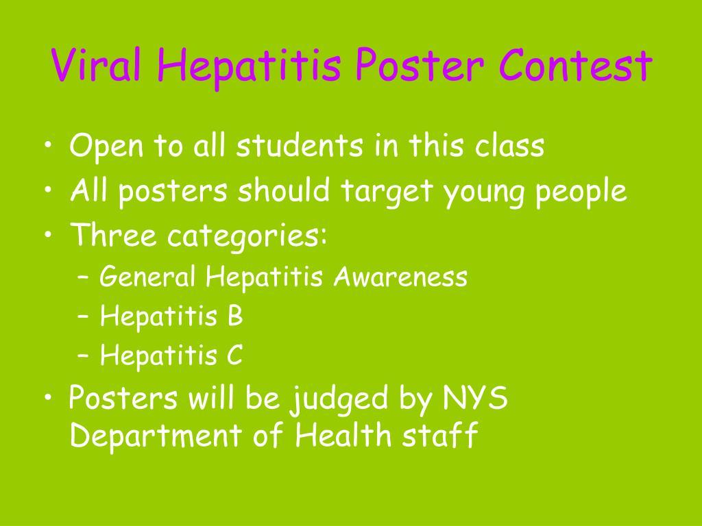 Viral Hepatitis Poster Contest