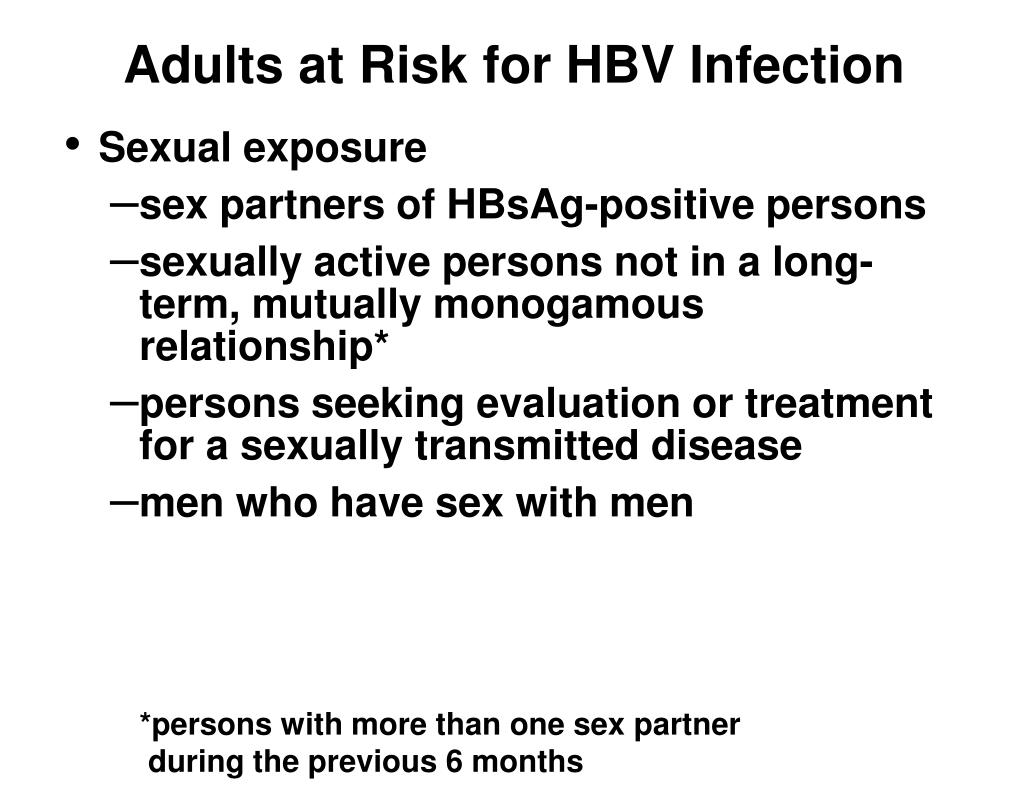 Adults at Risk for HBV Infection