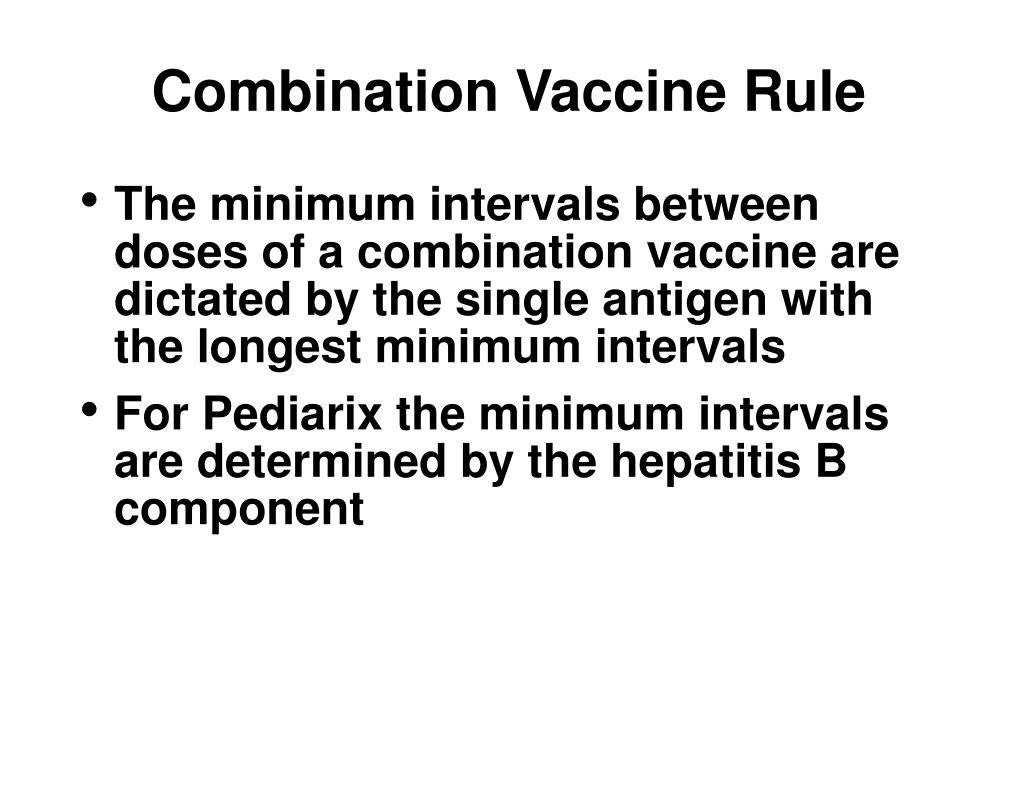 Combination Vaccine Rule