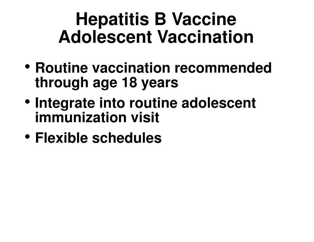 Hepatitis B Vaccine