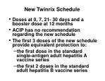 new twinrix schedule