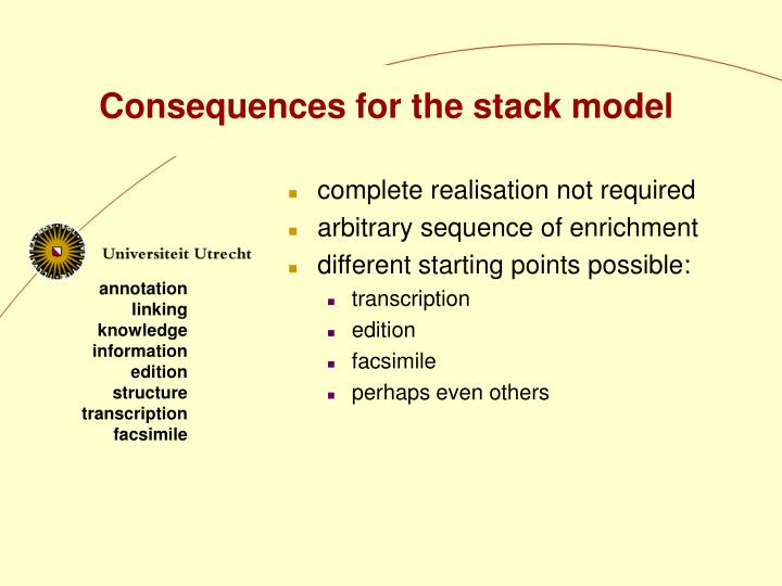 Consequences for the stack model